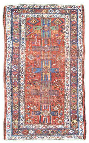 Antique Persian Afshar Rug-Turco Persian Rug Company Inc.