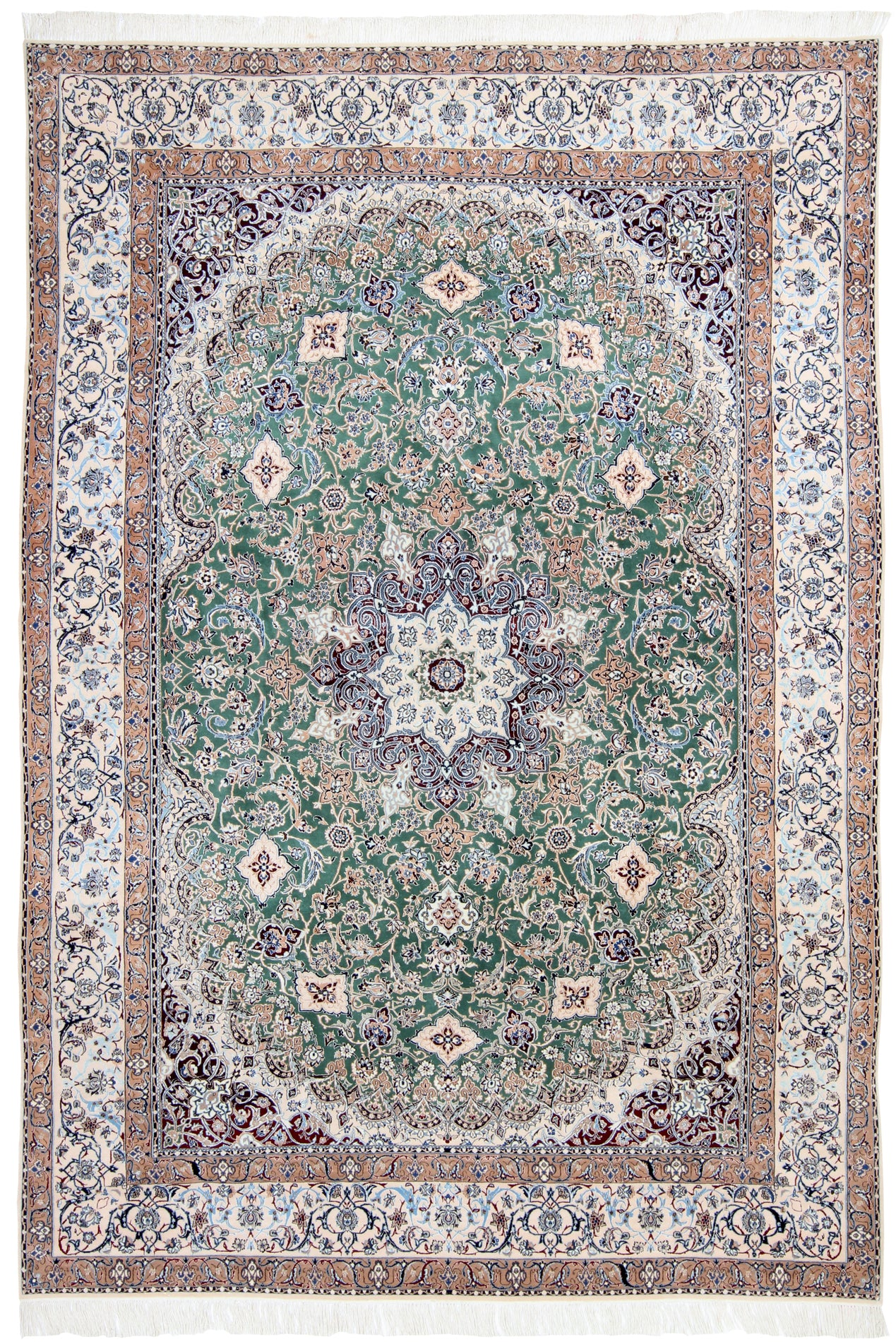 Nain Teal-Green Field-Turco Persian Rug Company Inc.