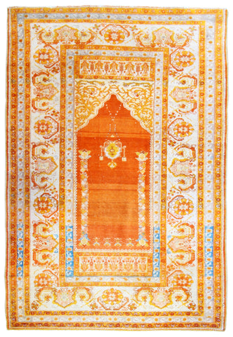 Turkish Ghiordes Antique Prayer Rug
