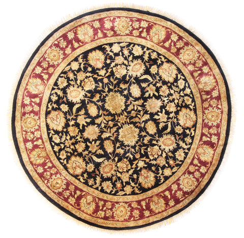 Jaipur Round Red Black-Turco Persian Rug Company Inc.