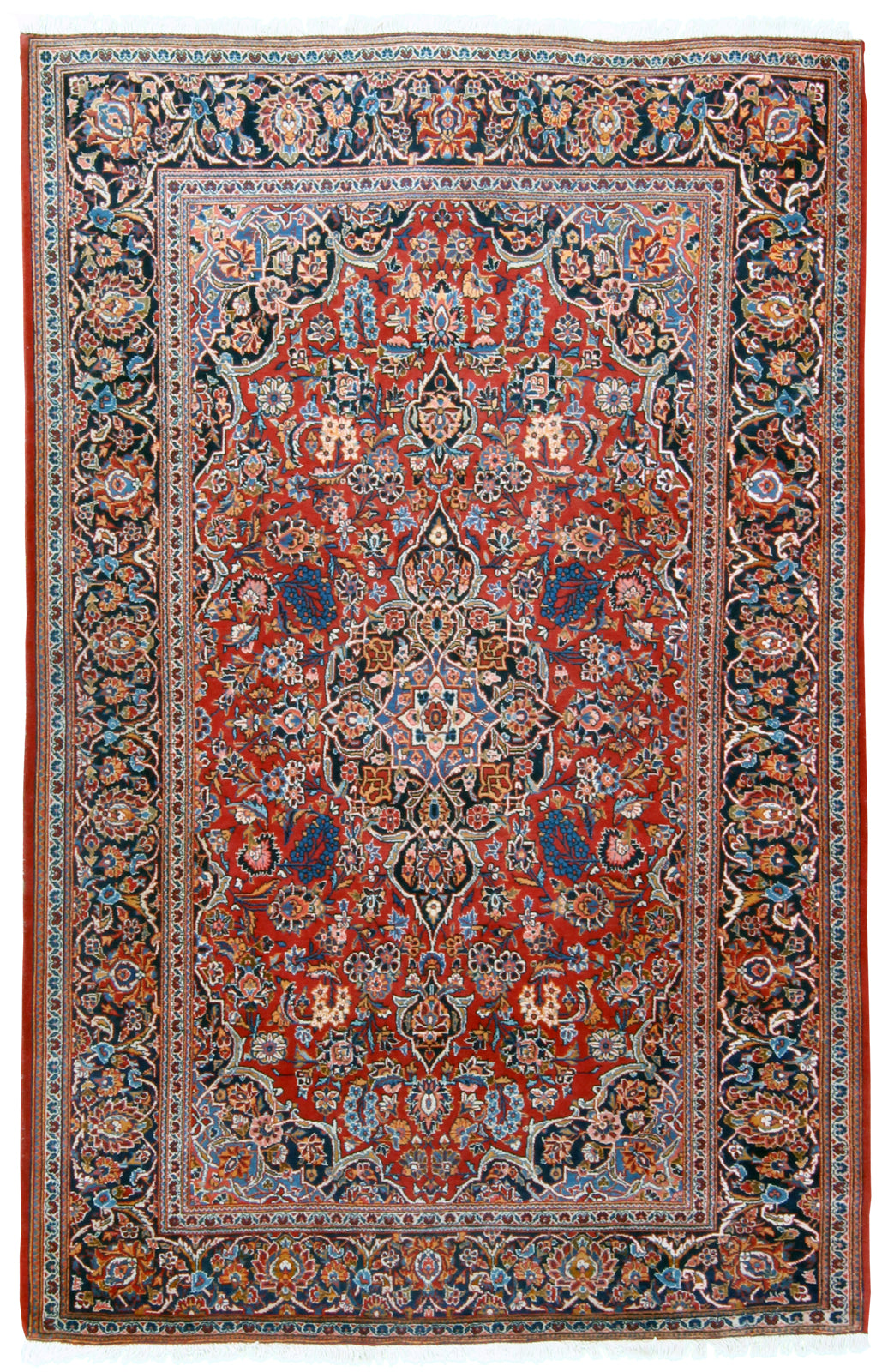 Persian Kashan Rug Semi Antique Turco Persian Rug