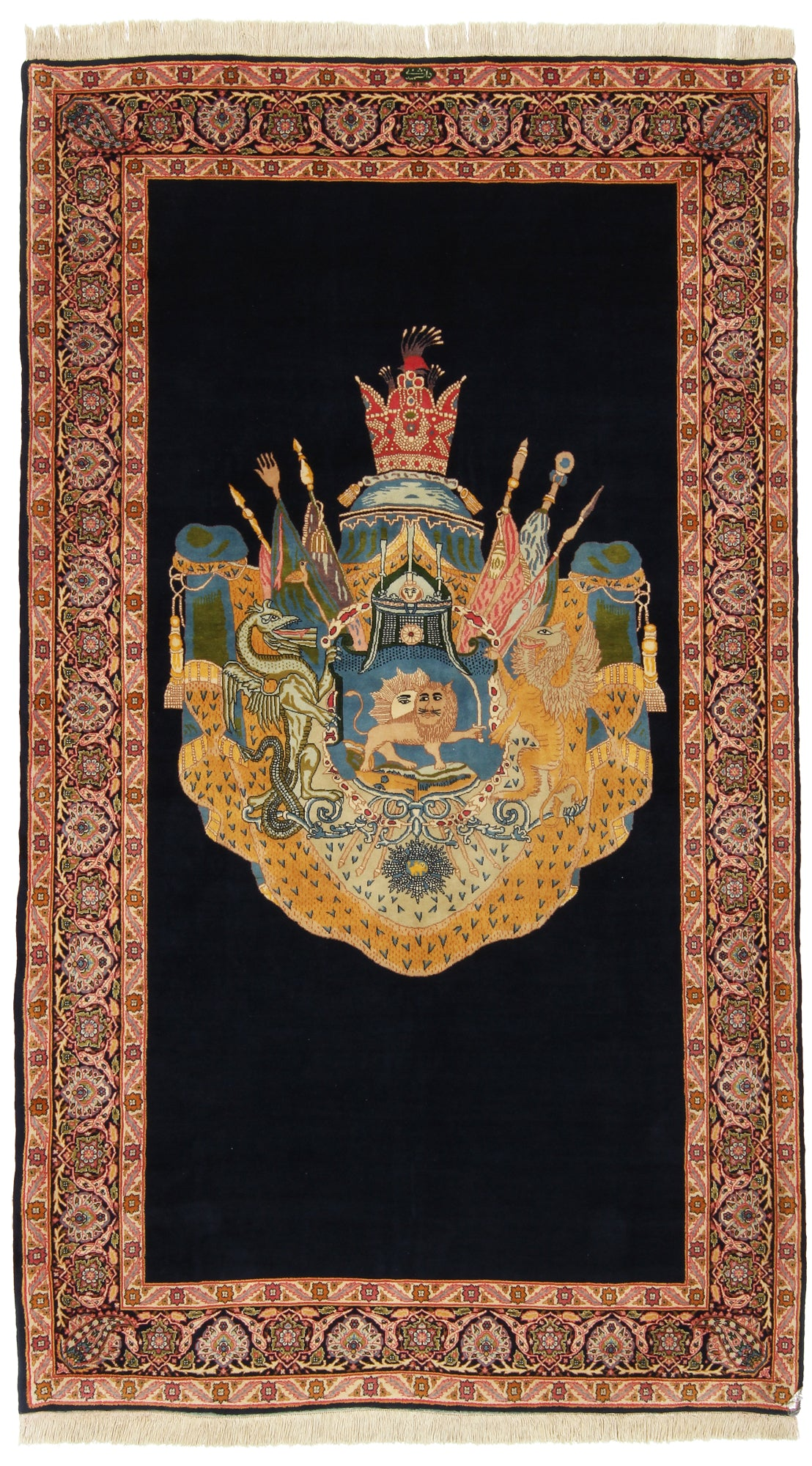 Lion and Sun Pictorial Rug