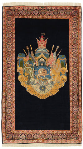Lion and Sun Pictorial Rug-Turco Persian Rug Company Inc.
