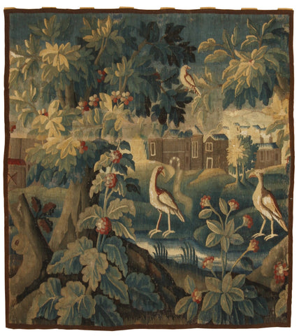 18th Century Aubusson Verdure Landscape Tapestry-Turco Persian Rug Company Inc.