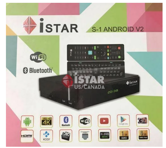 IStar-S1 Android with 12 months free subscription  ايستار مع 12 اشهر خدمة مجانية