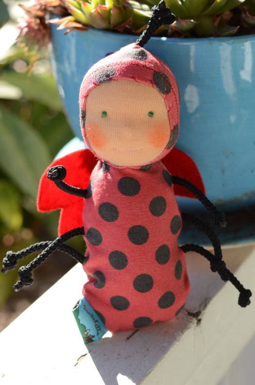 Special Edition Nubbin Baby Bugs - Lady Bug - SK with Green Eyes