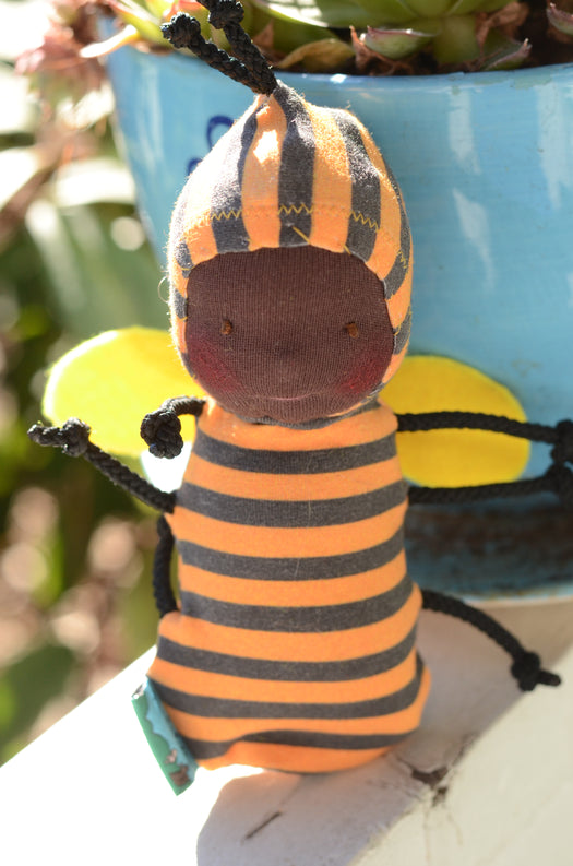 Special Edition Nubbin Baby Bugs - Bumble Bee - Dark with Brown Eyes