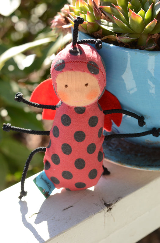 Special Edition Nubbin Baby Bugs - Lady Bug - SK with Brown Eyes