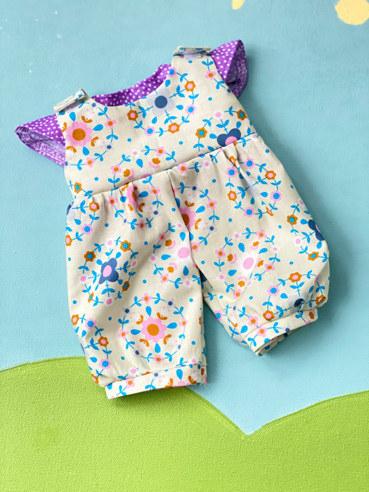 Cuddle Doll Overalls & T Set - Floral Folklore