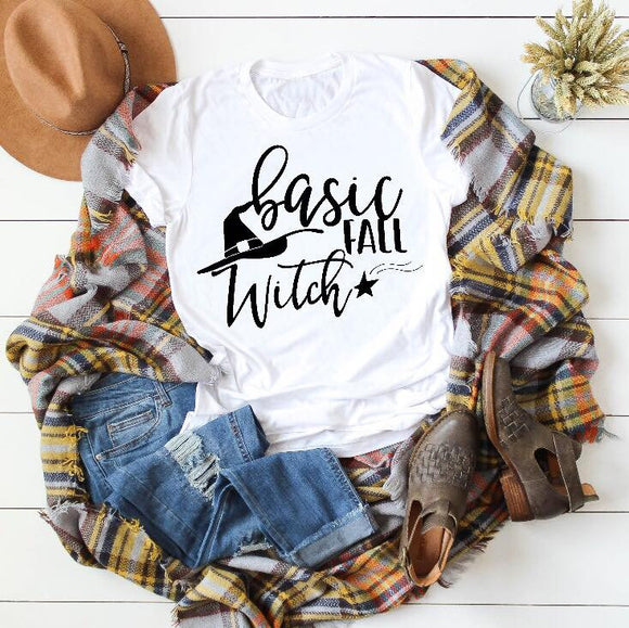 Basic Fall Witch Graphic Tee - emailgroupie-education