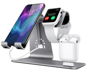 3 in 1 Aluminum Apple Charging Stand