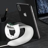 2 in 1 Universal Charging Dock Holder for Apple Watch and iPhone