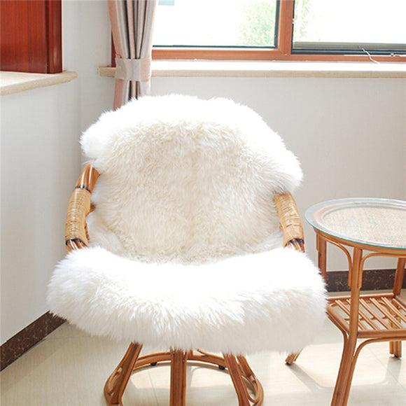 Fluffy Faux Sheepskin Drape | Emailgroupie Education