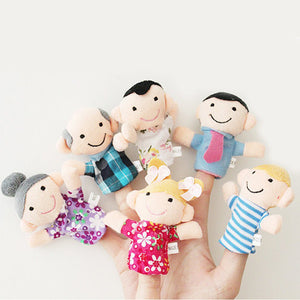 6pcs Family Finger Puppets | Emailgroupie Education
