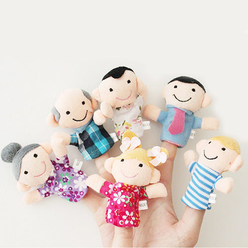 6pcs Family Finger Puppets - emailgroupie-education