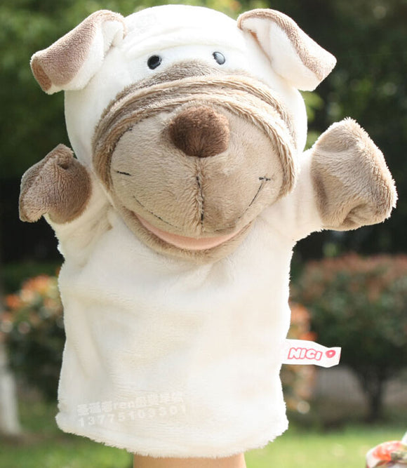 White Dog Hand Puppet | Emailgroupie Education