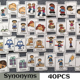 80 piece Synonyms Antonyms ESL flashcard set | Emailgroupie Education