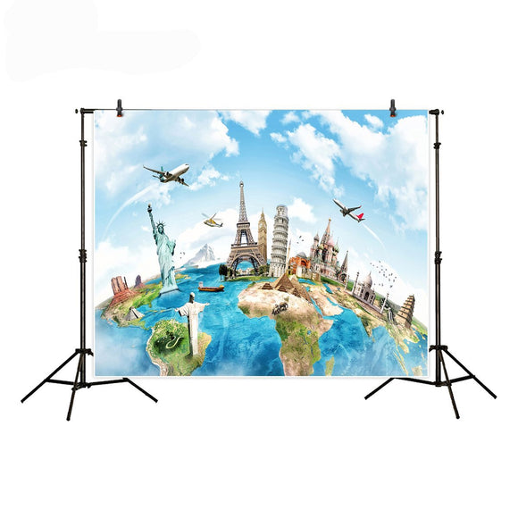 World Travel Backdrop | Emailgroupie Education