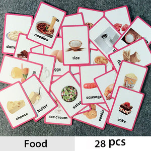 28 piece food ESL flashcard set | Emailgroupie Education