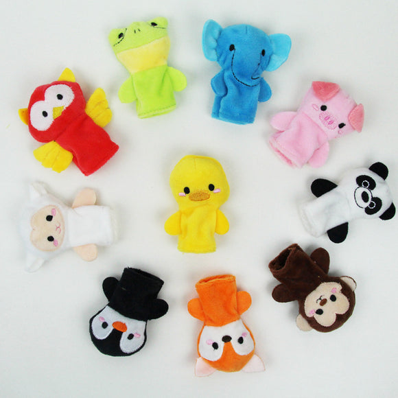 10 piece Plush Animal Finger Puppets | Emailgroupie Education