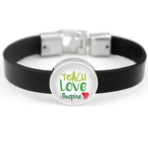 Unisex Inspire Teacher Love Charm Bracelet - emailgroupie-education