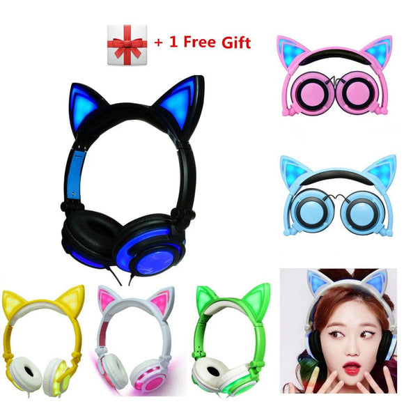 Glowing LED Animal  Ear Headset