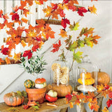 Lighted Maple Garland - emailgroupie-education