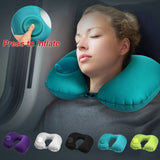Portable U-Shape Inflatable Travel Pillow - emailgroupie-education