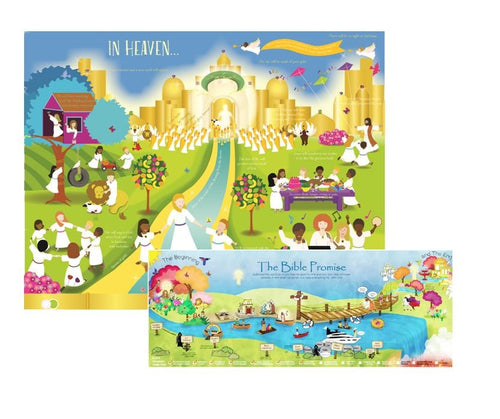 Heaven Posters for kids, Set of 2