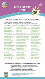 New! Bible Story Tabs - Set of 90 sticker tabs to add to your Bible for quick reference.
