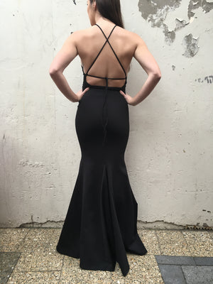 Harrow gown - black
