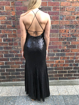 Missy gown - black sequin