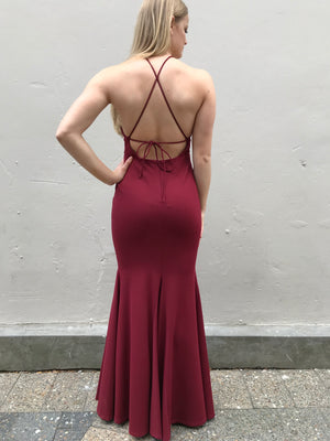 Harrow gown - maroon