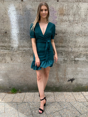 Catherine dress - teal green