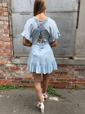 Ginnie dress - baby blue