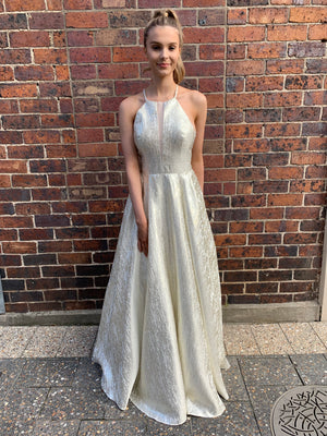 Bell gown - silver