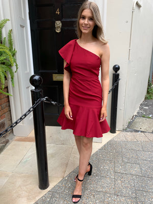 Kerry dress - maroon