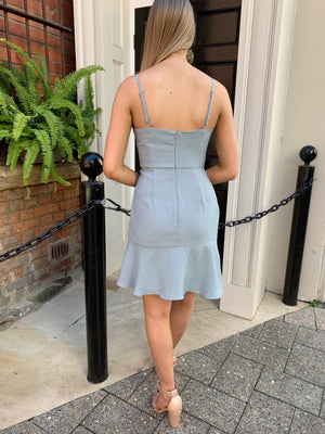 Sarah dress - dusty blue