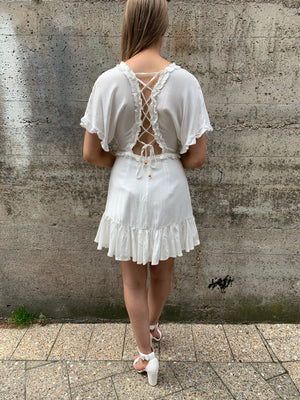 Ginnie dress - white