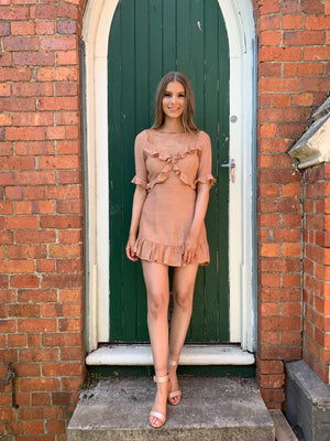 Sarah dress - dusty beige