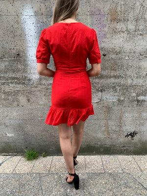 fred dress - bright red