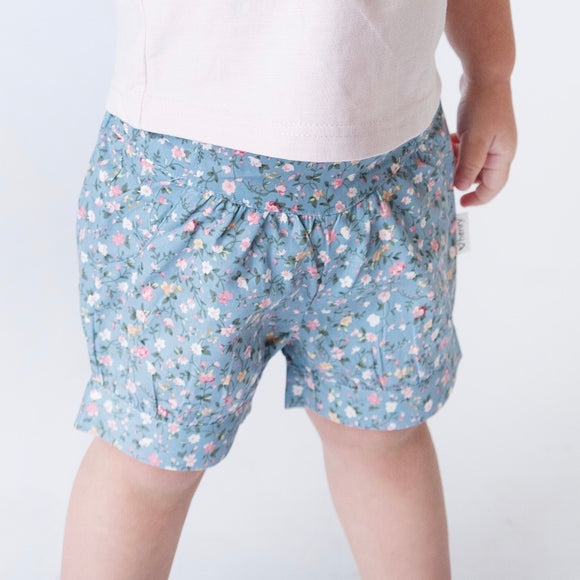 Girls Lucy Shorts - Blue Floral