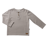 Boys Basic Henley Tee - Light Grey
