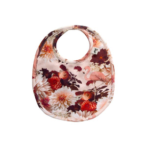 Tennessee Reversible Bib - Dahlia Flamingo/Golden Leopard