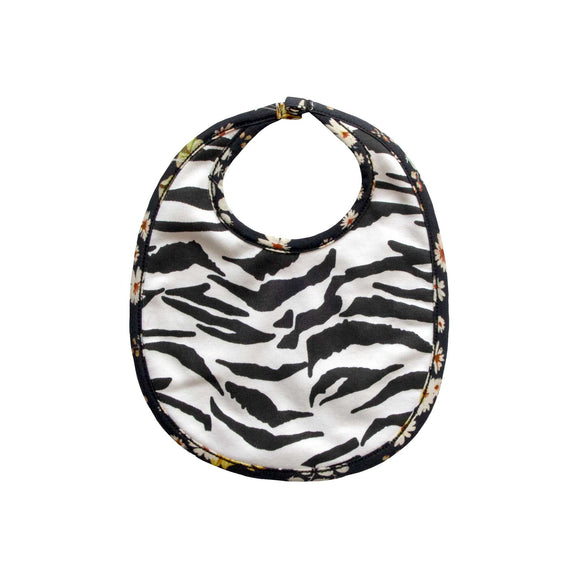 Tennessee Reversible Bib - Sunflower Song/Zebra
