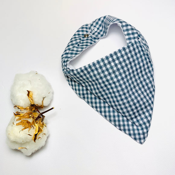 Dibble Bib - Dusty Blue Gingham