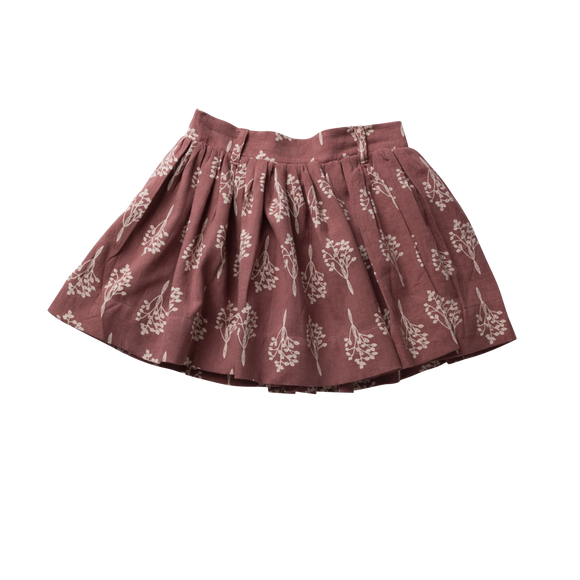 Girls Full Skirt - Mulberry Leaves
