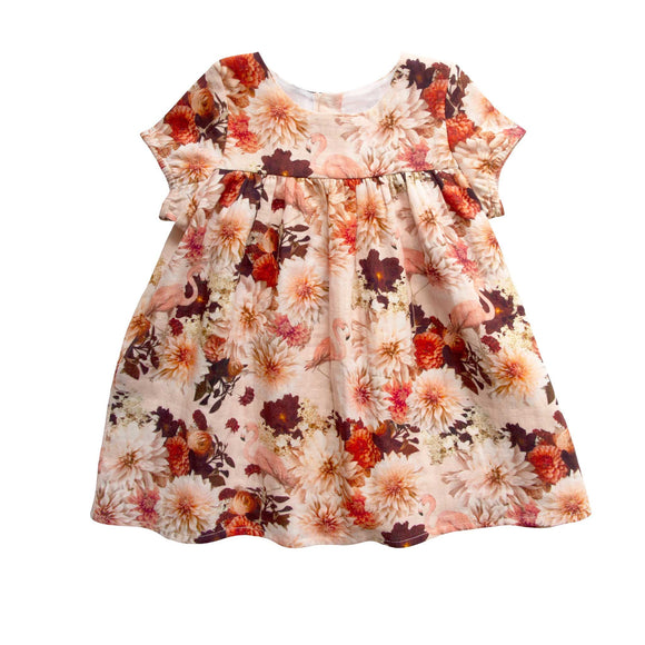 Girls Hampton Dress - Dahlia Flamingo