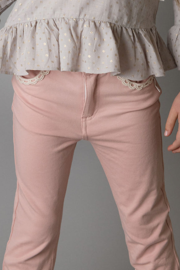 Girls Jeggings - Pink