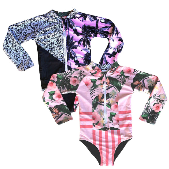 Girls Reversible Swimsuit - Palm Springs